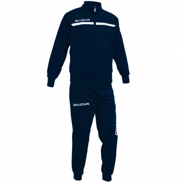Спортивный костюм Givova One Full Zip. (Синий) Оригинал.
