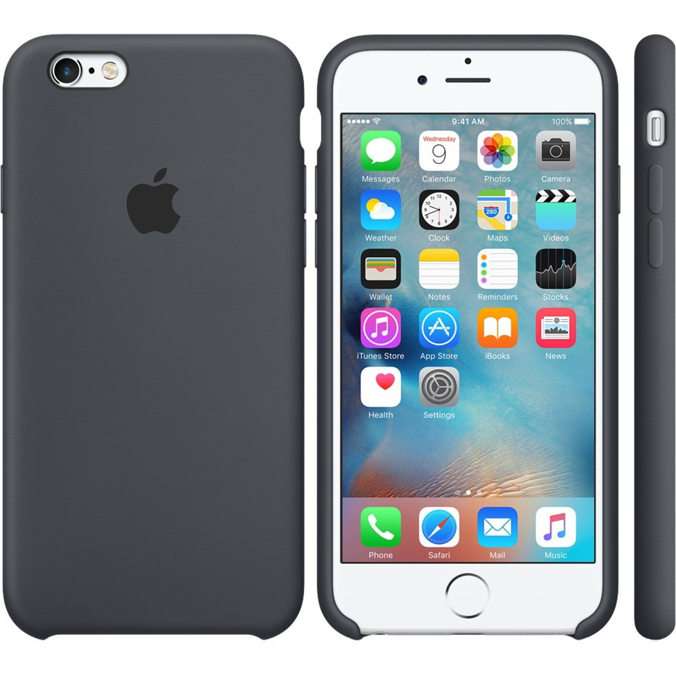 Чехол Silicone Case Apple iPhone 6 Plus, 6S Plus Тёмно - Серый