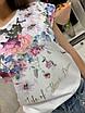 Женская белая футболка с цветочным рисунком 33ut322, фото 2