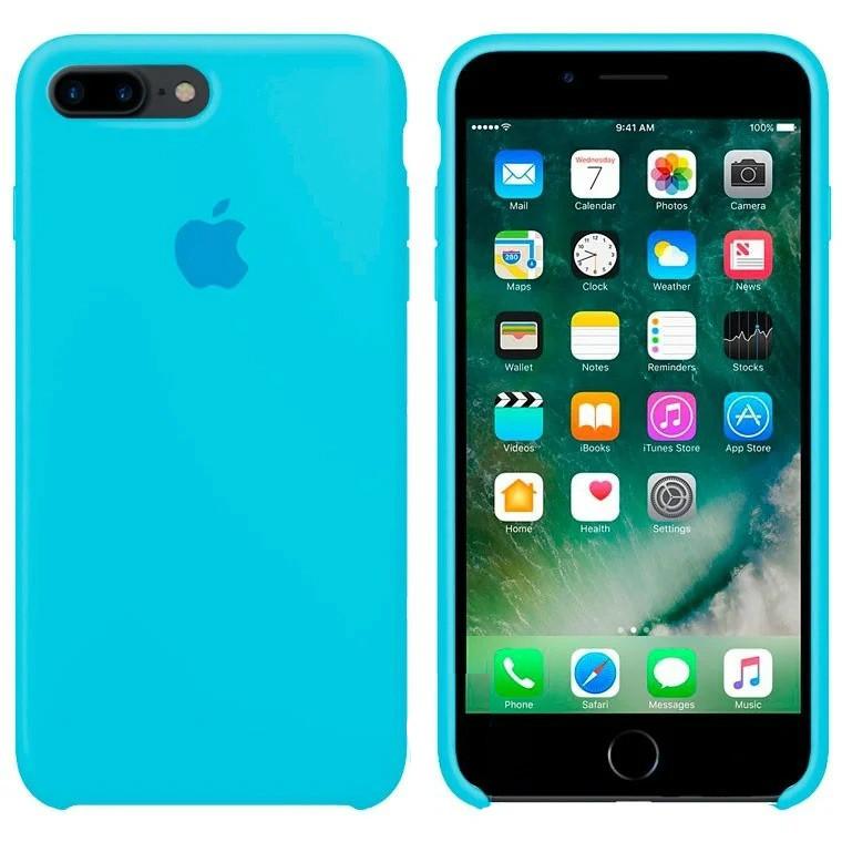 Чехол Silicone Case Apple iPhone 7 Plus, iPhone 8 Plus Голубой