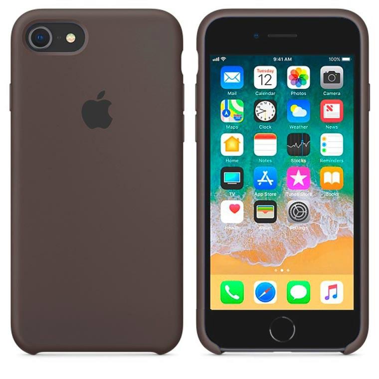 Чехол Apple Silicone Case Apple iPhone 6 Plus, iPhone 6S Plus Тёмно - Коричневый