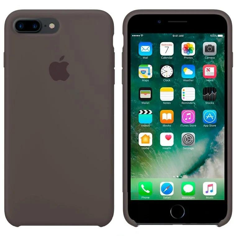 Чехол Silicone Case Apple iPhone 7 Plus, iPhone 8 Plus Тёмно - Коричневый