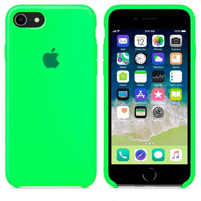 Чехол Silicone Case Apple iPhone 7, iPhone 8 Ярко - Зелёный