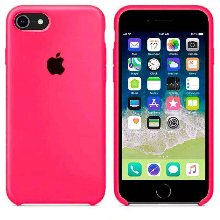 Чехол Silicone Case Apple iPhone 6, iPhone 6S Ярко - Малиновый