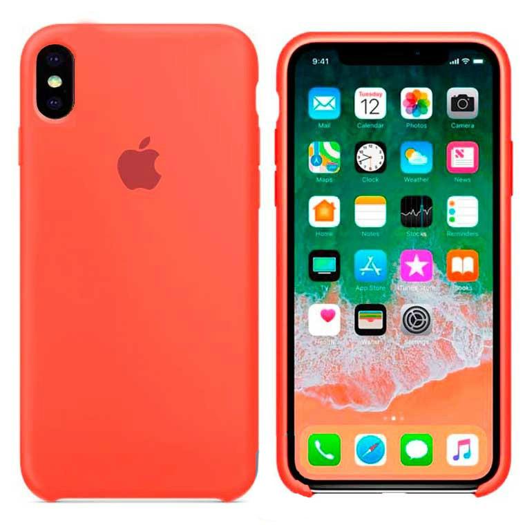 Чехол Silicone Case Apple iPhone X, iPhone XS Светло - Оранжевый