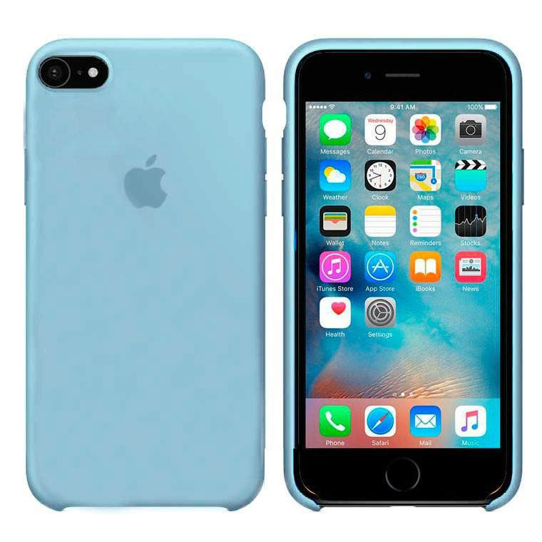 Чехол Silicone Case Apple iPhone 6, iPhone 6S Светло - Голубой
