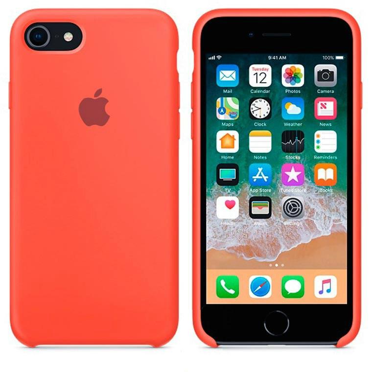 Чехол Silicone Case Apple iPhone 7, iPhone 8 Светло - Оранжевый