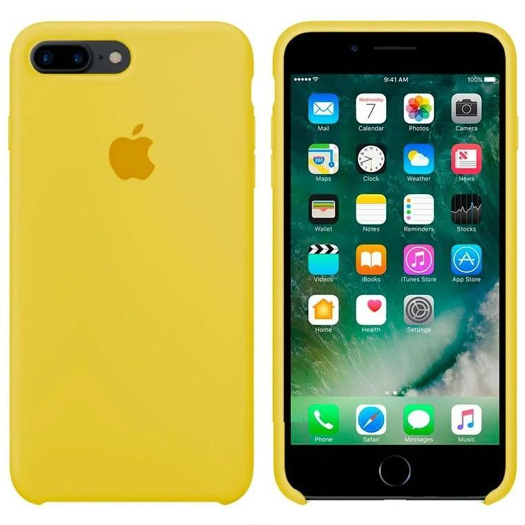 Чехол Silicone Case Apple iPhone 7 Plus, iPhone 8 Plus Желтый