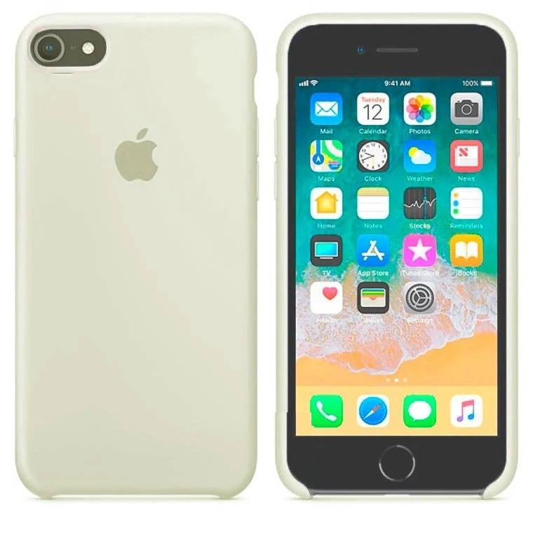 Чехол Silicone Case Apple iPhone 6 Plus, 6S Plus Молочный