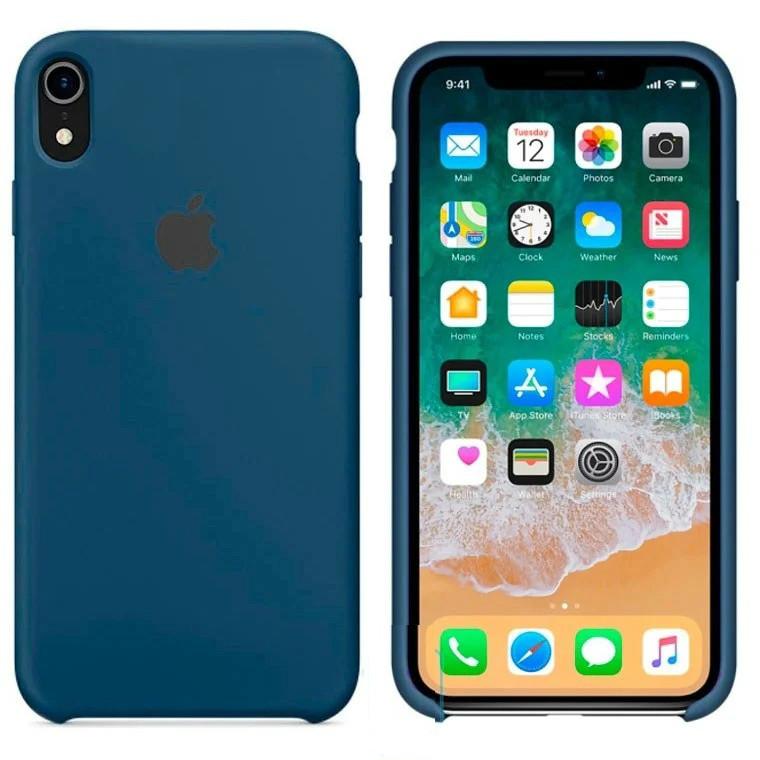 Чехол Silicone Case Apple iPhone XR Темно - Синий