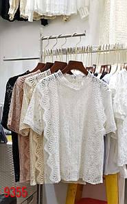Вечерняя блузка из кружевного гипюра 42-46 (в расцветках)