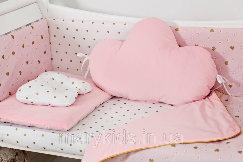 Дитяче ліжко Twins Dolce Insta D-508 Сердечка 6 елементів
