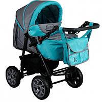 Детская коляска трансформер  с сумкой , детская универсальная коляска серая, візок дитячий