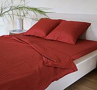Семейное постельное белье Luxury красное