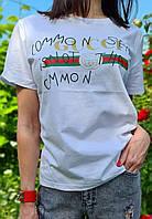 Женская коттоновая футболка с рисунком 79mfu317, фото 1