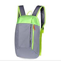 Рюкзак под бренд серо-салатовый  - 10 L (№ 102)