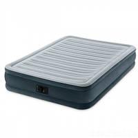 Велюровая кровать Intex с электронасосом 191 x 137 x 33 см