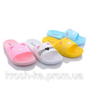 Шлёпки для девочки Котики в ассортименте(31-35)р Китай KM18mix Elmod