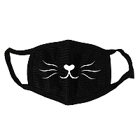 Маска тканевая Gee! Аниме мордочка кошки Anime чёрная MS 043