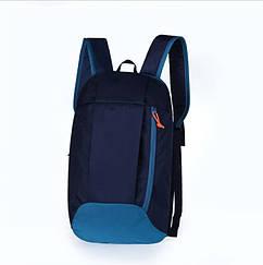 Рюкзак под бренд темносиний с бирюзой  - 10 L (№ 106)