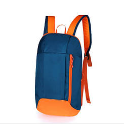 Рюкзак под бренд оранжево-синий  - 10 L (№ 107)