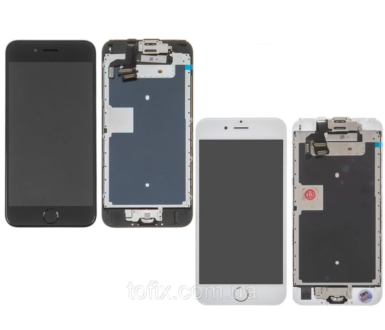 Дисплей для iPhone 6S, модуль в сборе (экран и сенсор), с динамиком, с камерой и кнопкой HOME