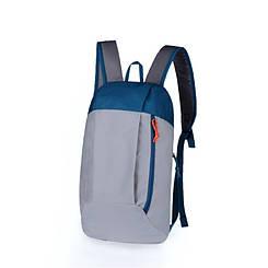 Рюкзак под бренд серо-синий  - 10 L (№ 108)