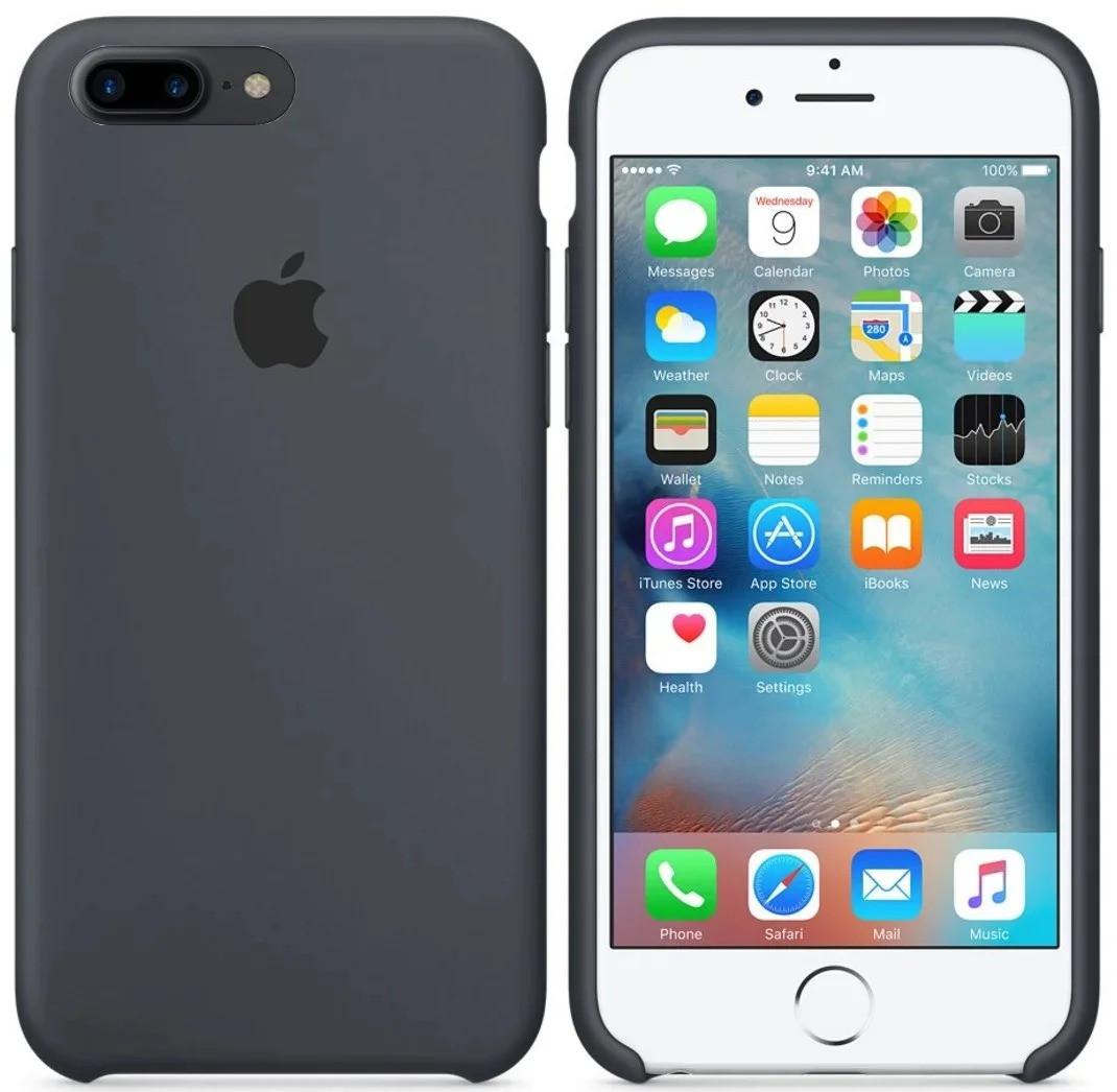 Чехол Silicone Case для Apple iPhone 7 Plus, iPhone 8 Plus Тёмно - Серый