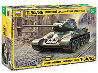 """Сборная модель """"Советский средний танк Т-34/85 обр. 1944 г."""" (масштаб: 1/35) Zvezda (3687)"""