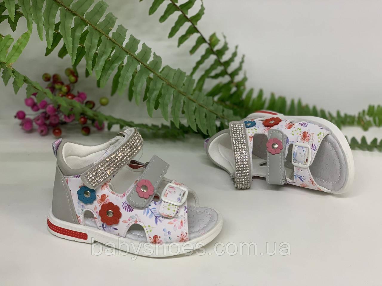 Кожаные босоножки для девочки Tom.m, р.21-26, КБ-541