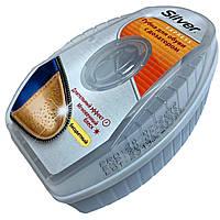 """Губки пропитки """"SILVER EXPRESS"""" бесцветный блеск для обуви с дозатором"""