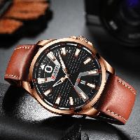 Мужские наручные часы Curren 8379 Cuprum-Black-Brown
