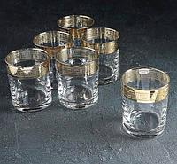 "Набор стаканов для виски 250 мл ""Версаче голд"" 6 шт."