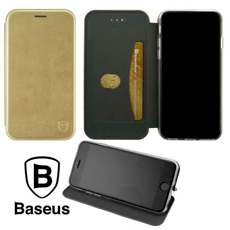 Чехол-книжка Baseus Premium Edge Samsung J4 2018 J400 Gold