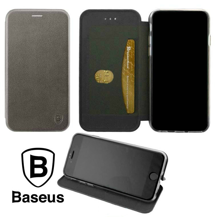 Чехол-книжка Baseus Premium Edge Samsung J4 2018 J400 Grey