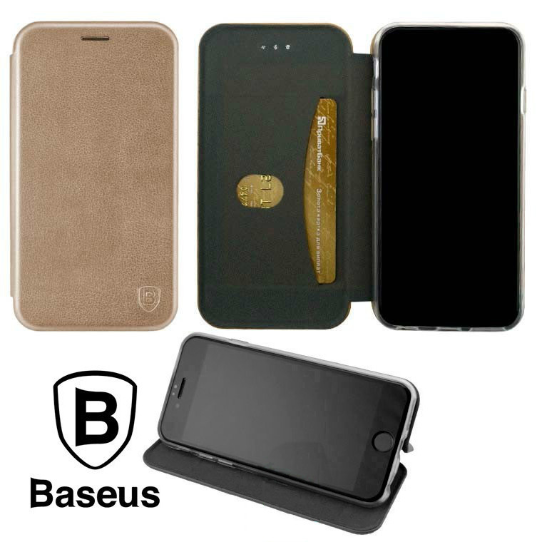 Чехол-книжка Baseus Premium Edge Samsung M30s 2019 M307 Розово - Золотистый
