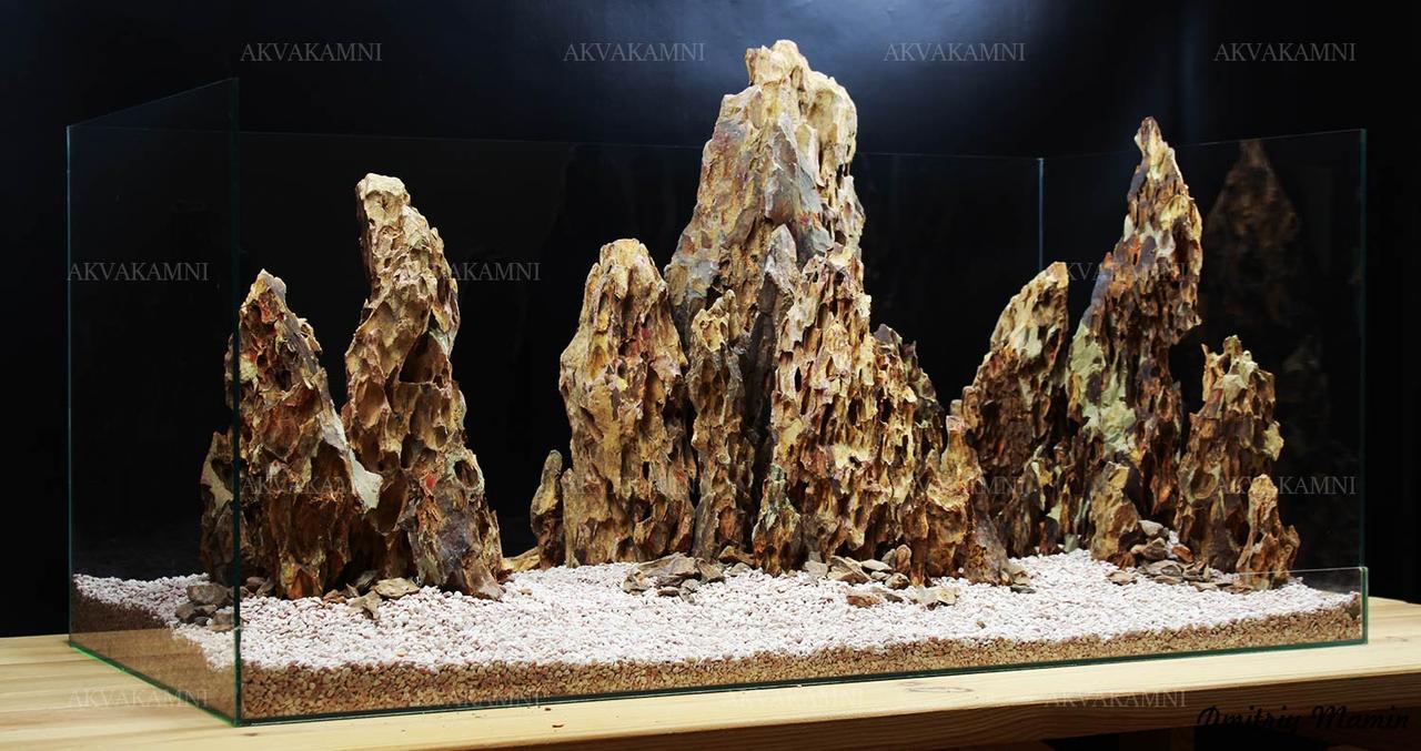 Композиция из Dragonstone K1 для аквариума от 200л