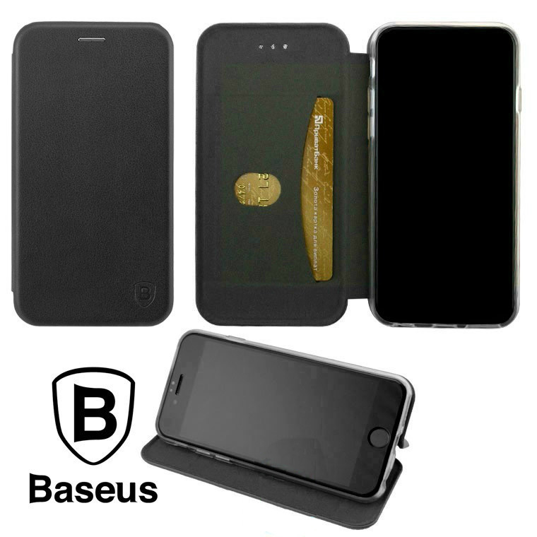 Чехол-книжка Baseus Premium Edge Apple iPhone X, iPhone XS Black