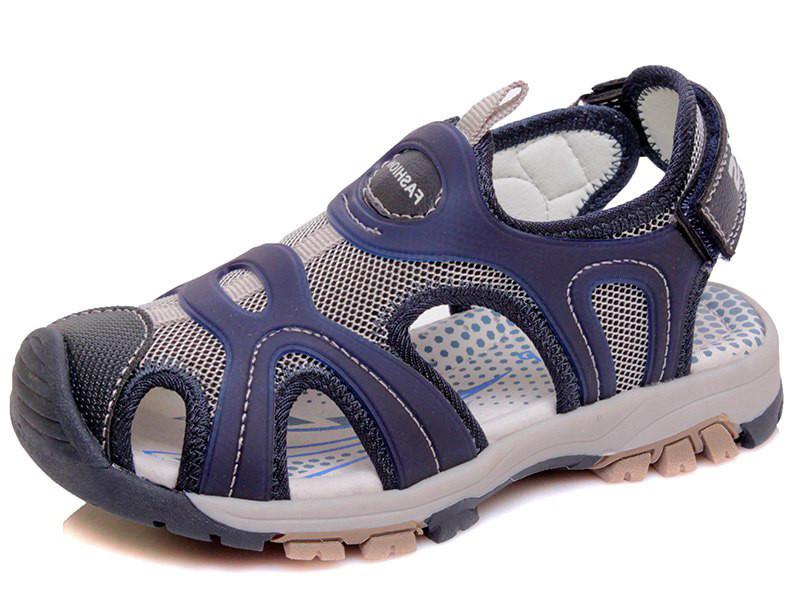 Дитячі сандалі (босоніжки) для хлопчика з підсиленим носком сині р. 26-31