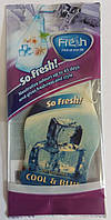 "Автомобильный ароматизатор сухой ""листик"" ""Fresh Way"" ""Cool Blue"" 5 гр"