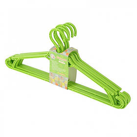 Вешалка для одежды 5 шт зеленый Алеана 121073