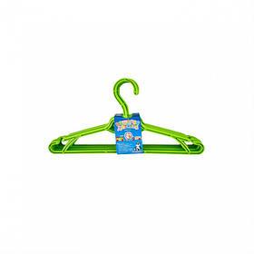 Вешалка для одежды детская 5 шт зеленый Алеана 121074