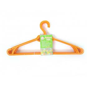 Вешалка для одежды 5 шт оранжевая Алеана 121073-4