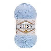 Пряжа Alize Cotton Baby Soft , цвет 183 детский голубой