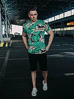 Мужской летний комплект шорты и футболка.