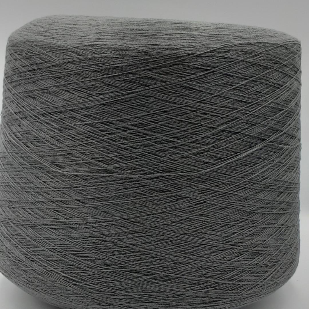 50% хлопок 50% акрил GREY - бобинная пряжа для машинного и ручного вязания