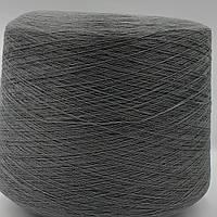 50% хлопок 50% акрил GREY - бобинная пряжа для машинного и ручного вязания, фото 1