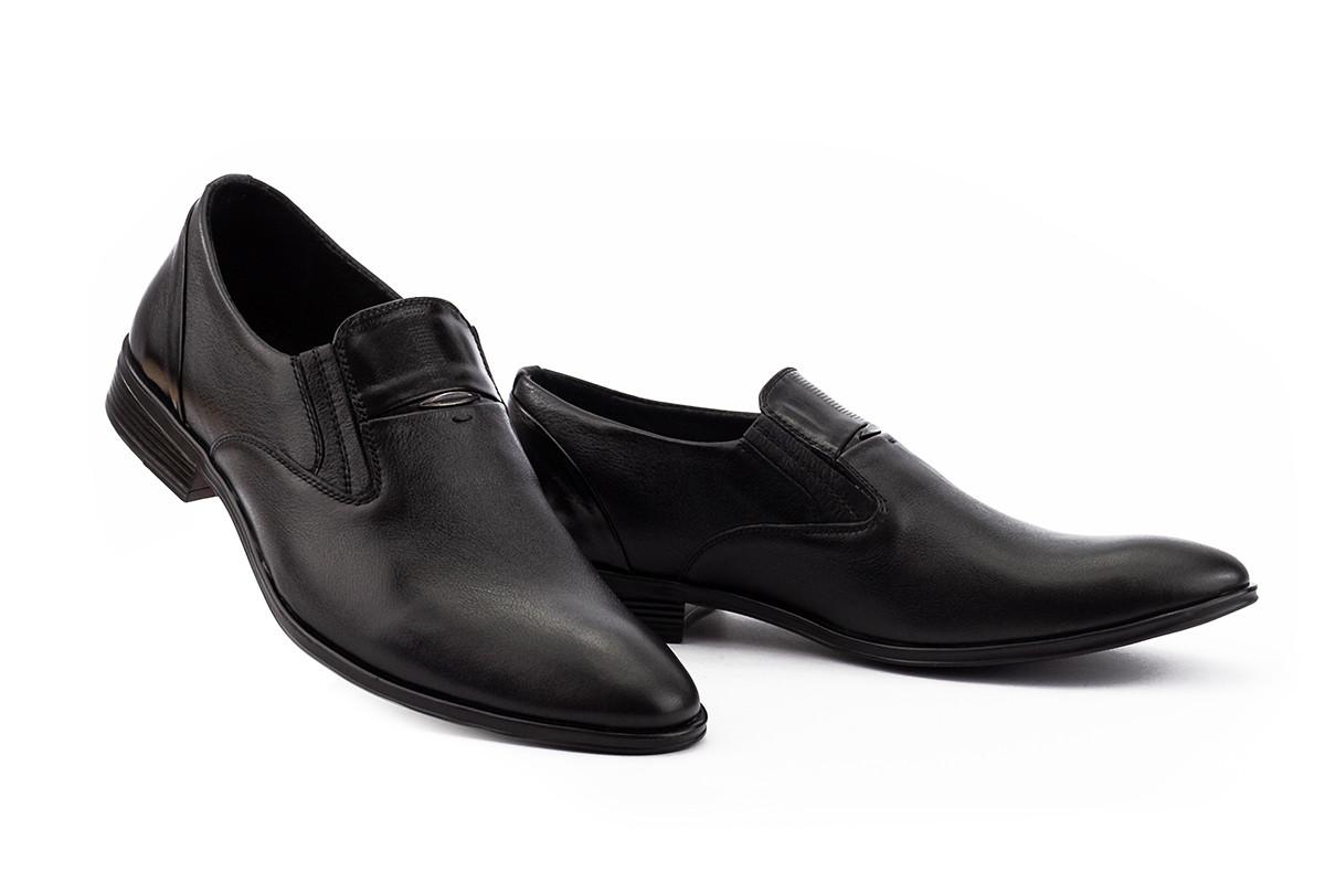 Чоловічі шкіряні туфлі без шнурків