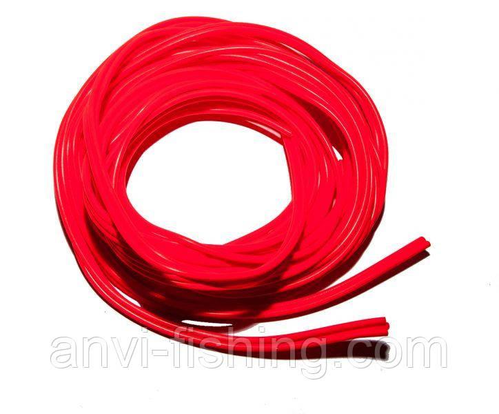 Кембрик силиконовый флюоресцентный 10м красный