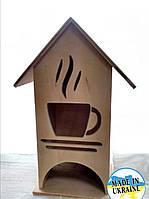 """Чайный домик заготовка из фанеры для декупажа и декорирование """"Чашечка чая"""""""